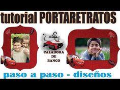PORTARETRATO EN MDF CON LA CALADORA DE BANCO PASO A PASO