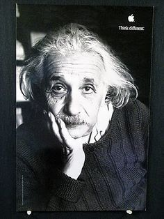"""Think Different"" Albert Einstein"