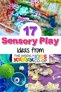17 Sensory Play Ideas from The Weekly Kids Co-Op