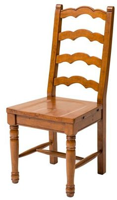 ELEPHANT FURNITURE   BAKERSFIELD   Ladder Back Chair With Timber Seat  (470mm X 540mm X