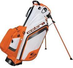 King Cobra 2014 Bio Stand Carry Bag 5 lbs White Vibrant Orange FREE SHIP NEW #Cobra