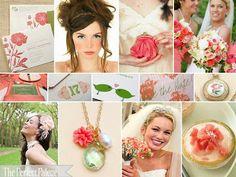 Angela & Art: Color Palettes - coral pink, gold, green