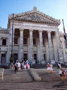 Parliament Building, Montevideo, Uruguay. The construction of this building started in 1904 sponsored by the government of President José Batlle y Ordoñez. The building was inaugurated on August 25th, 1925 to commemorate the 100th anniversary of the Declaration of Independence. (V)