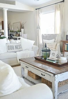 DIY a shabby chic coffee table for your house.