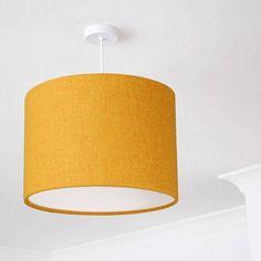 Bright Mustard Yellow Harris Tweed Lampshade