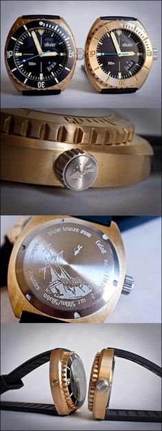 Olivier Bronze Diver 500M : 45mm : New boutique watch company.