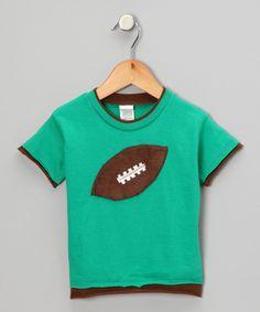 Green Football Tee-Toddler $12.99