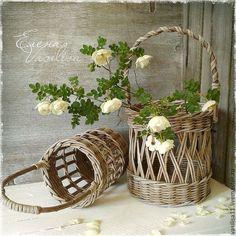 """Купить """"Старый сад"""" Корзиночки ажурные - Плетеная корзинка, старинная, в стиле рустик, кантри, прованс"""