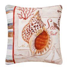 Shell & Anchor Canvas Pillow