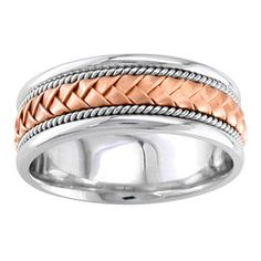 mens rose gold wedding rings with rope | Gold Ring | Wedding Ring Sets | Engagement Rings