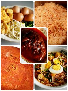 mee siam rice vermicelli in spicy sour gravy singapore mee siam rice ...