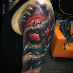 Tattoo artist: @stepannegur  #t2 #tattoo #tattooer #tattooartist #negur #stepannegur #freehand #organic #supportgoodtattooing #besttattoo #horrortattoo #russia #tattooinrussia #mosow #skinart #skin #ink #inked #hot #like #tattooshop #dermalizepro #tktx #tattoonumb # by tattoonumb
