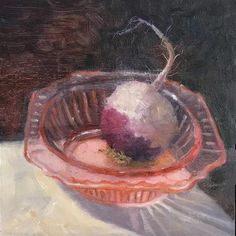 "Daily Paintworks - ""Diannes Dish"" - Original Fine Art for Sale - © Sharon Egan Fine Art Gallery, Figurative Art, Food Art, Still Life, Dish, Paintings, Impressionist, Sculpture, Inspiration"