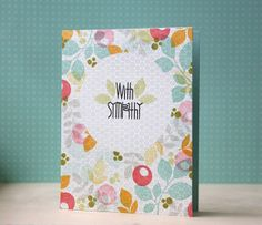 Technique: stamping over pale patterned papers >> card by L. Bassen