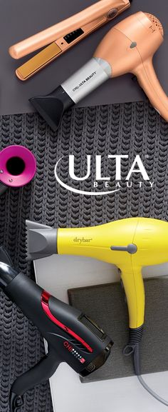 Turn up the heat; hold the damage. Meet hair dryers that show off the latest technology, like ion technology that actually helps give hair more shine. Look for favorite at Ulta Beauty like Drybar and Chi for Ulta Beauty.