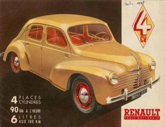 catalogue literature brochure RENAULT 4 CV