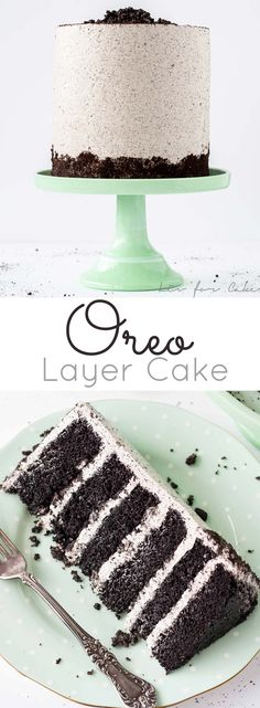 An Oreo lover's dream! Layers of Oreo cake, buttercream, and chopped up Oreos for some crunch. | livforcake.com:
