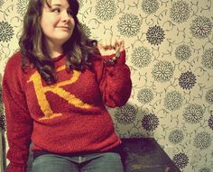 @Marianne Correa Beth Knit a Harry Potter sweater- also this is what I want for Christmas next year