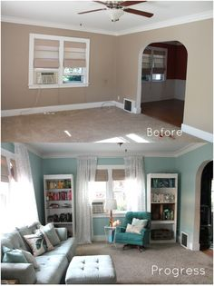 Living Room Progress: Calm, Relaxing, Light Blue too!