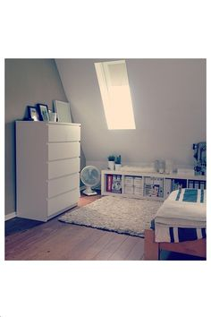 Ikea malm and expedit. White bedrooms always look clean