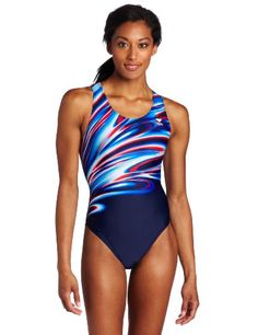 TYR Sport Womens Aurora Maxback Swim SuitNavyRed30 * Learn more by visiting the image link.(This is an Amazon affiliate link)