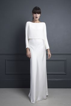 Halfpenny London / Long Sleeved Chic Wedding Dress / UK Bridal Wear. More on The LANE
