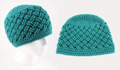 Thick, plush stitches with a woven appearance are worked up in a dreamy teal shade to make up this gorgeous Celtic Dream Crochet Beanie Pattern. This intermediate crochet pattern looks a little tricky, but simply pay attention to the pattern directions and you'll be fine. This head-turning crochet beanie pattern is written up in sizes from newborn all the way through adult, so anyone in your family can be a trendsetter in this crochet hat. Use your favorite winter shade to create this coz...