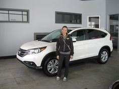 Not bad Kendall for your first ever new vehicle! A beautiful 2013 CRV EX-L! Cyndi & all of us here at Sherwood Honda wish you all the best!