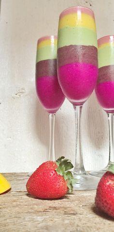 Breakfast Criminals rainbow smoothie. #loveislove #recipetocome