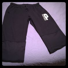 PINK Victoria Secret boyfriend pants Excellent used condition. No rips stains or dryer use. Bottoms are folded to show no signs of wear in the bottoms. PINK Victoria's Secret Pants Track Pants & Joggers