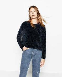 Image 2 of FULL CHENILLE SWEATER from Zara SMALL