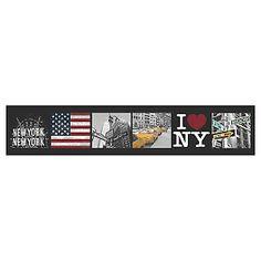 Tappetino cucina antiscivolo Legend New York multicolor 57 x 280 cm