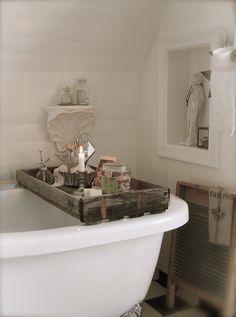 Bathroom Badezimmer Tablett Deko für Badewanne