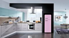 Beautiful Refrigerators in Attractive Colors for Modern Kitchens
