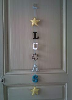 Guirlande décorative personnalisable prix pour 7 lettres et formes voir descriptif Coton Multicolore : Décoration pour enfants par titikou sur ALittleMarket
