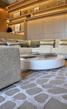 Contemporary living room with Nobilis carpet detail Rug Inspiration, Cool Rugs, Interior Design Studio, Modern Rugs, Geneva, Carpet, Paris, Contemporary, Dining