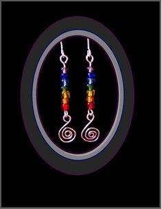 chakra,chakra jewelry,sacred spiral,silver earrings,reiki jewelry | ArtisticCreationsbyRose - Jewelry on ArtFire