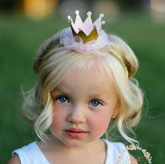 Gold baby crown headband crown headband baby by SweetValentina