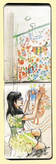sketch_tawashi's_live-Paint in Tokyo Tetsuro Honda https://www.flickr.com/photos/scipdd2