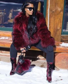 WEBSTA @ makeupshayla - Yes sir, I'm cut from a different cloth, my texxxture is the best furCoat: Shoes: HandBag: Sunglasses: Fur Fashion, Fashion Killa, Love Fashion, Fashion Looks, Fashion Outfits, Womens Fashion, Fashion Trends, Fall Winter Outfits, Autumn Winter Fashion