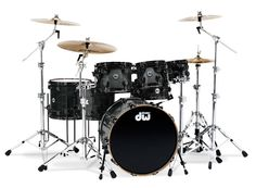 My favorite DW Drum Set...Collector Series in Ebony Stain Finish with Black Hardware