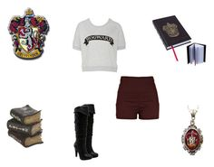 """Harry Potter Inspired"" by demonlover2002 ❤ liked on Polyvore featuring River Island, Jessica Simpson and Alkemie"