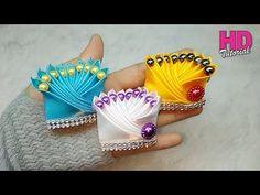 Satin Ribbon Flowers, Cloth Flowers, Ribbon Art, Diy Ribbon, Ribbon Crafts, Fabric Flowers, Kanzashi Tutorial, Ribbon Flower Tutorial, Cute Diy Hair Accessories