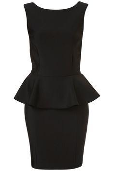Top shop peplum black dress