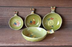 Small BOWLS Mexican POTTERY Set of 4 Vintage by PixieGoes2Market,