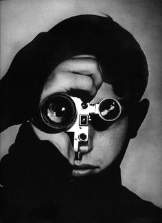 Andreas Feininger: The Photojournalist (Dennis Stock), 1951      The Photojournalist is of acclaimed photographer Dennis Stock. Stock won the LIFE Magazine amateur competition in 1951. Feininger took this now iconic photograph of Stock as a result.