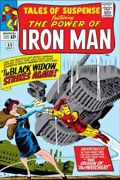 Tales Of Suspense Cover: Iron Man and Black Widow Flying Marvel Comics Poster - 30 x 46 cm Marvel Comics Superheroes, Marvel Comic Books, Comic Book Characters, Comic Book Heroes, Comic Books Art, Comic Art, Book Art, Marvel Vs, Marvel Characters