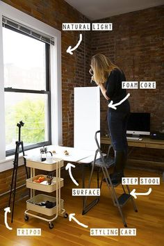 Photography set up, food photography tricks, natural light photography tips Food Photography Tips, Flat Lay Photography, Photography Tutorials, Product Photography Tips, Digital Photography, Photography Editing, Indoor Photography, Portrait Photography, Photography Studios