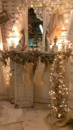I can make a pseudo-fireplace and mantle for stockings!