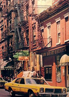 Passing O'Henry's; W. 4th Street at 6th Ave., 1970 - Best hamburgers in New York City (once upon a time...)